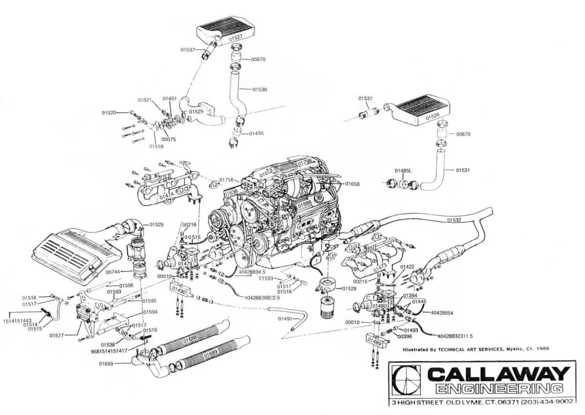 1987 Callaway Twin Turbo Corvette Schematic