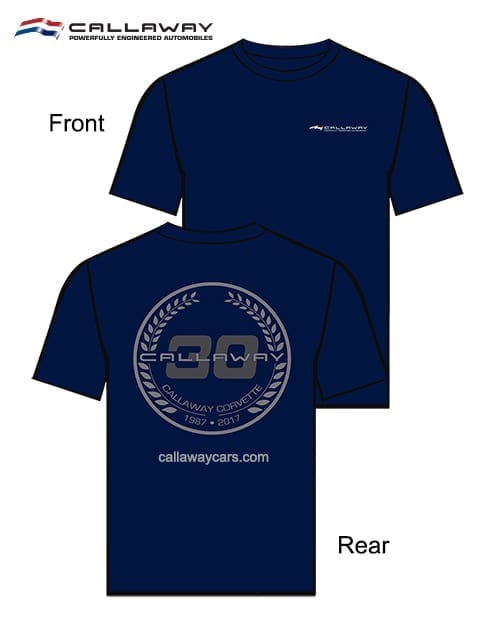 Callaway Corvette 30th Anniversary T-Shirts