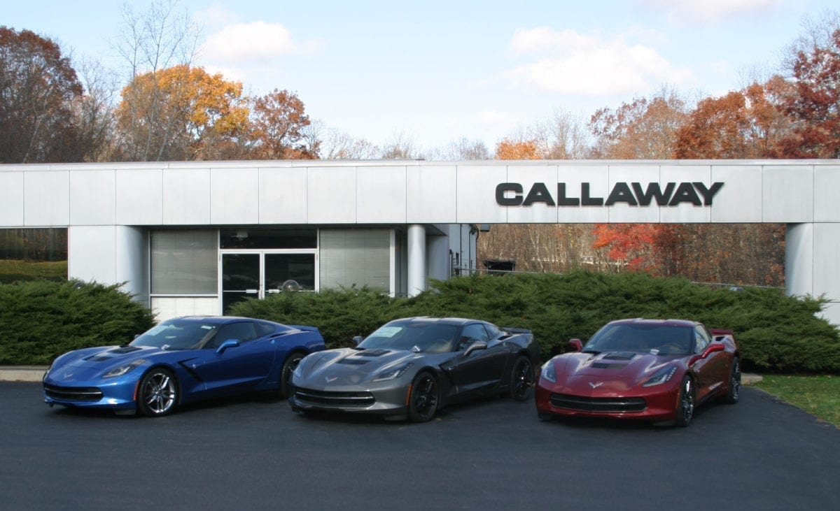 Callaway Corvettes at Old Lyme Factory