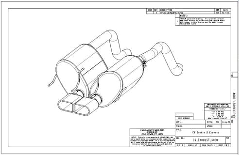 C6 Exhaust Drawing