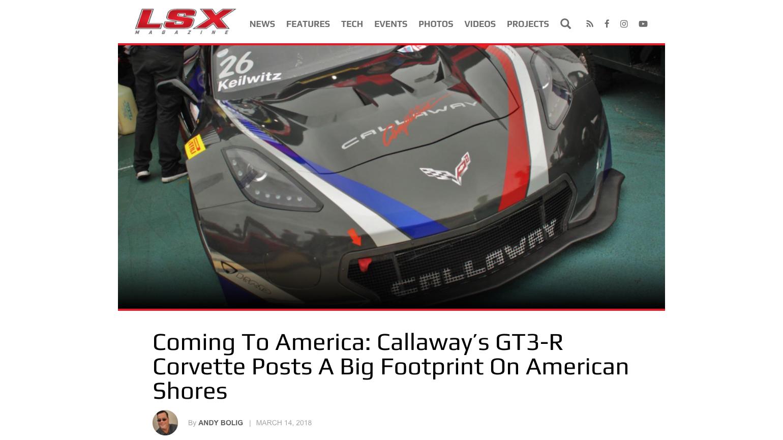 LSX Online Magazine C7 GT3-R Report
