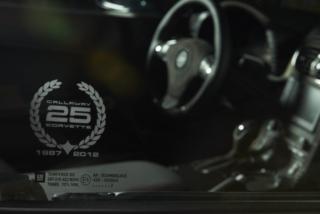 Callaway Corvette RPO B2K Conv. Etched Window Emblem