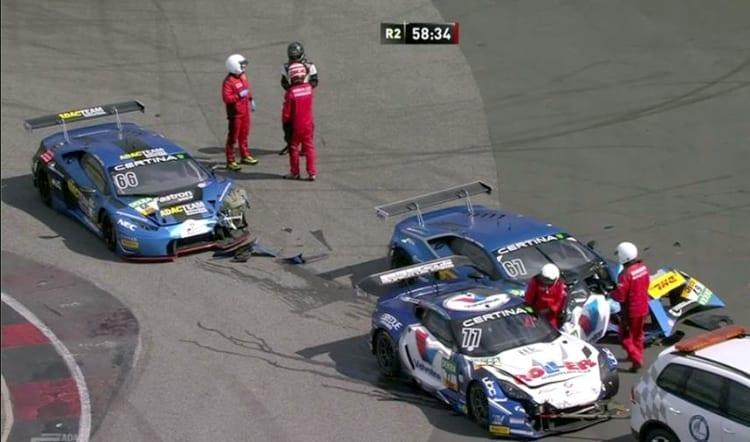 ROLLER/Callaway Corvette C7 GT3-R, ADAC GT Masters - Oschersleben Crash