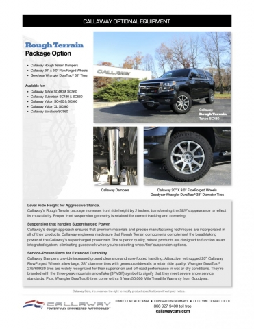 Callaway Rough Terrain Info Sheet