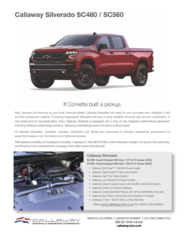 2019 Callaway Silverado Info Sheet