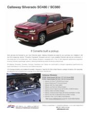 2018 Callaway Silverado Info Sheet
