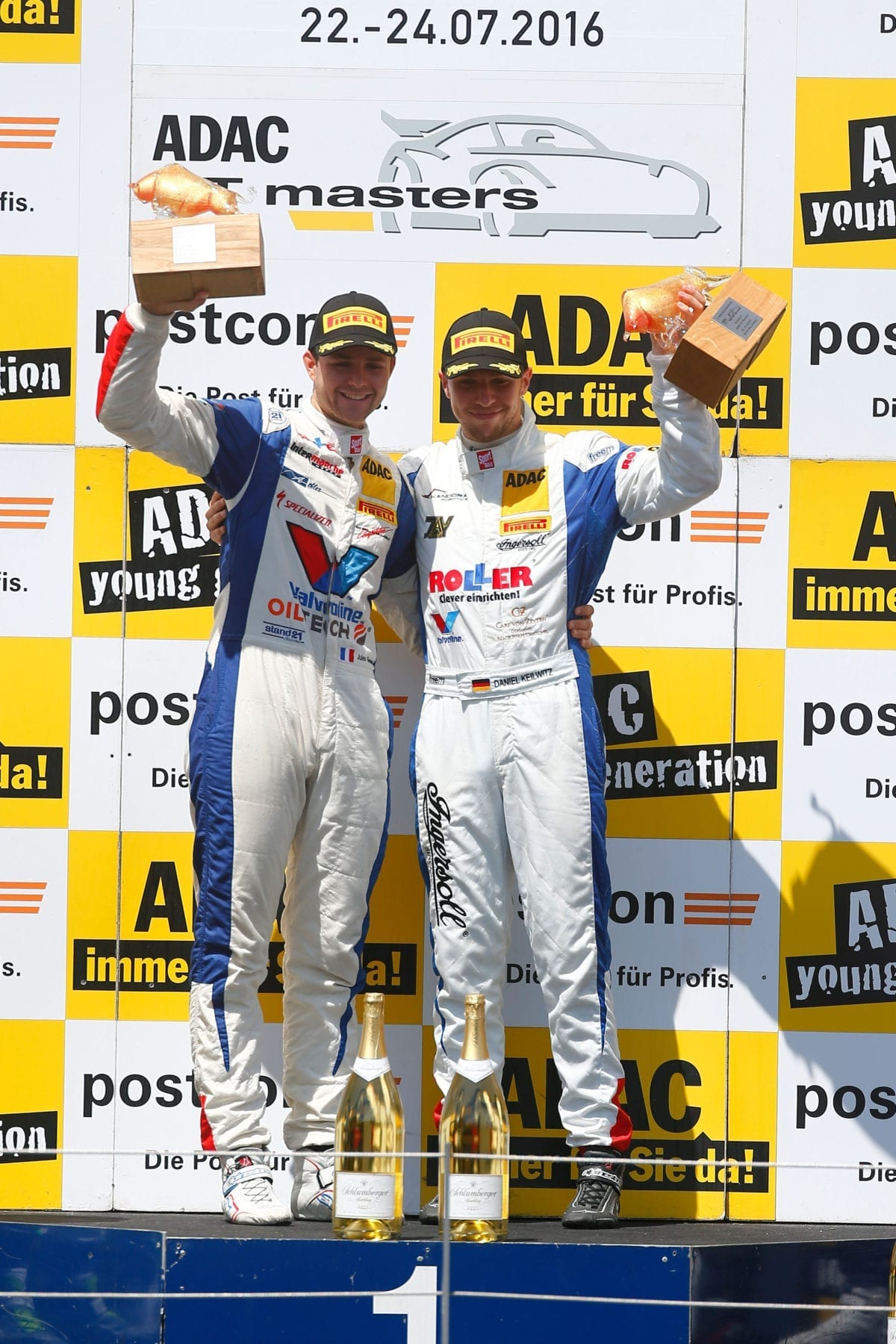 Gounon and Keilwitz on the Red Bull Ring Podium - 2016