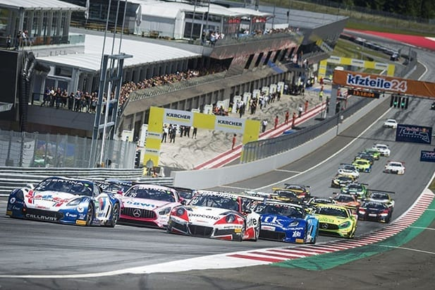 Corvette leads Red Bull Ring at race start - ADAC GT Masters