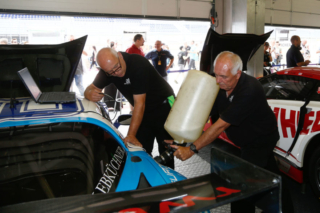 Callaway Garage Area, Filling Fuel Tank, Red Bull Ring - 2016