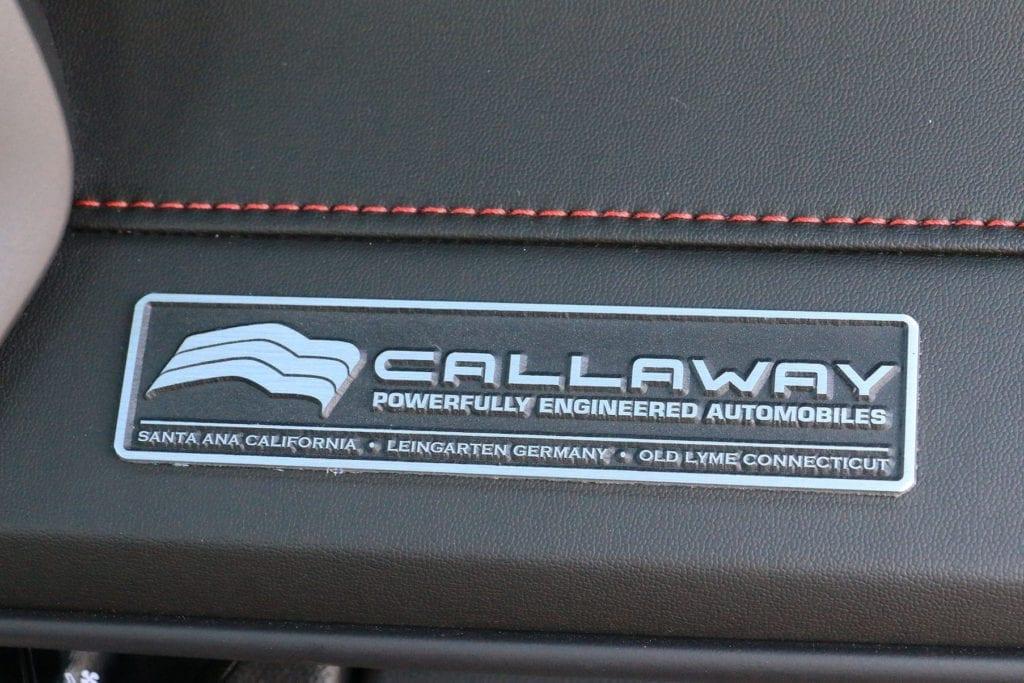 Callaway Camaro Dash Plaque