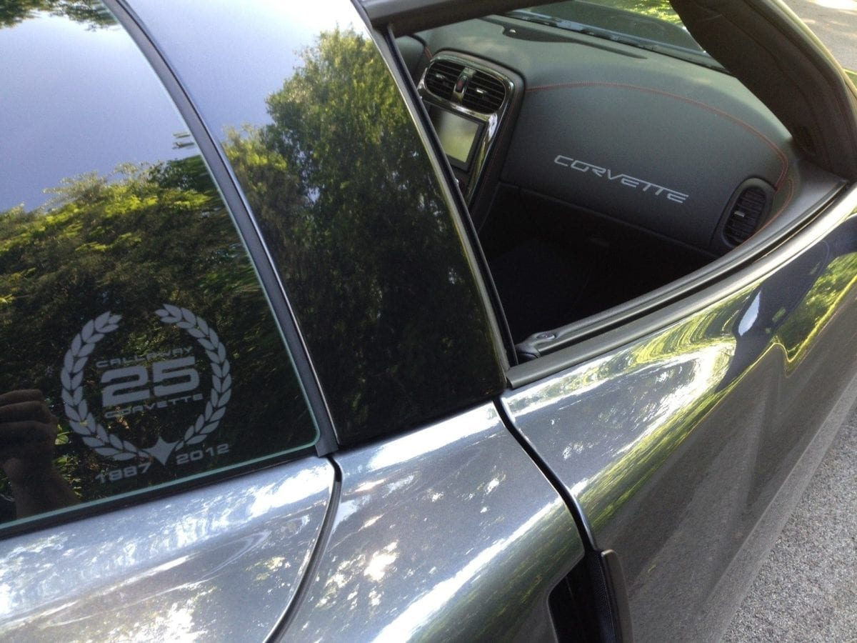 Callaway Corvette RPO B2K Coupe Rear Window Emblem