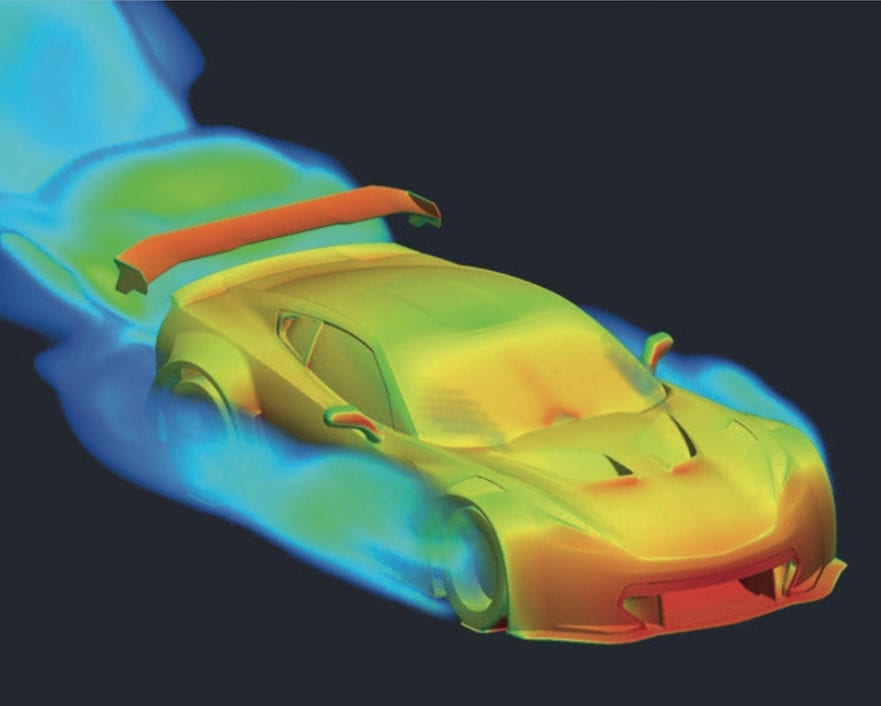 Callaway Corvette C7 GT3-R, Color Aero Map