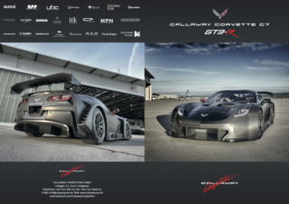 Callaway Corvette C7 GT3-R Brochure, front and rear covers
