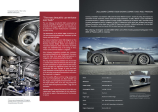 Callaway Corvette C7 GT3-R Brochure, page 2 and page 3