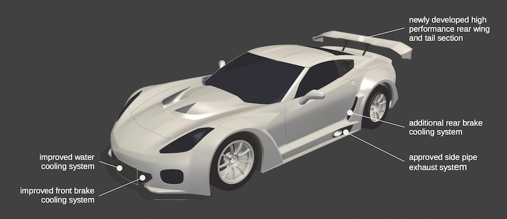 Callaway Corvette C7 GT3-R Aero Features