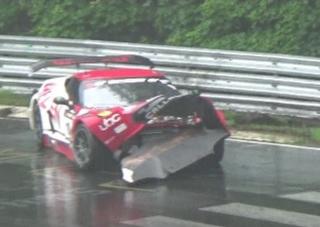 Whelen/Callaway Corvette C7 GT3-R, ADAC GT Masters - Nürburgring Crash