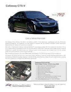Callaway CTS-V Info Sheet