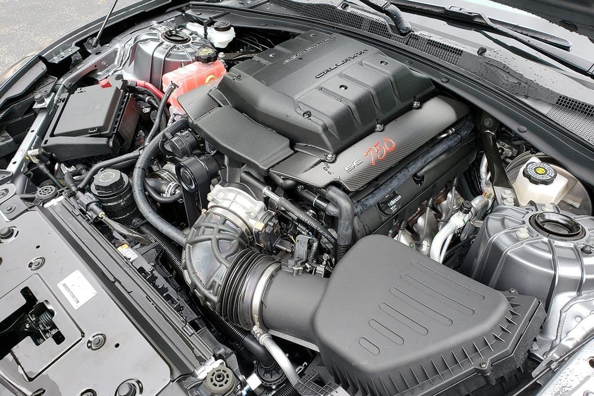 2019 Callaway Camaro ZL1 SC750 - underhood