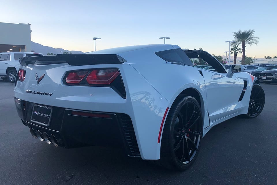 2019 Callaway Corvette SC627 - rear view