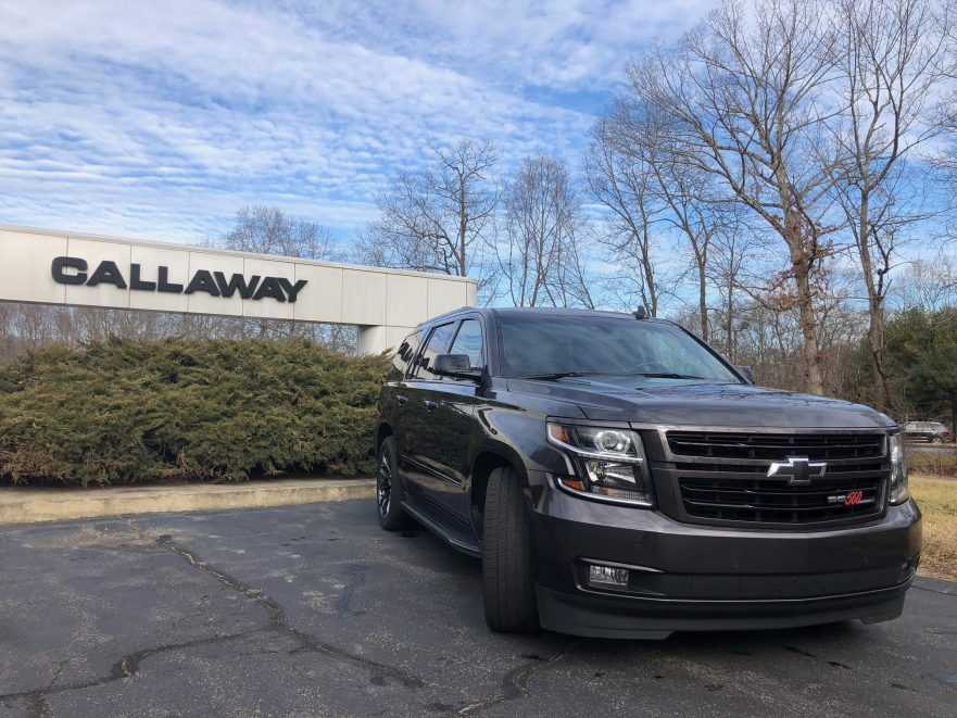2018 Callaway Tahoe RST Development Vehicle - front view