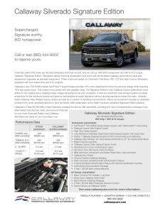 Callaway Silverado Info Sheet
