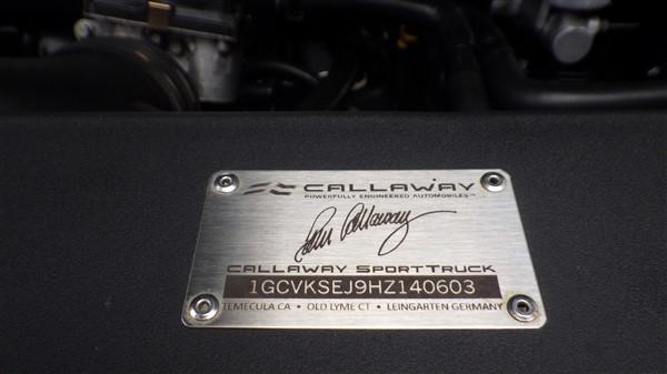 2017 Callaway Silverado SC560 - underhood plaque