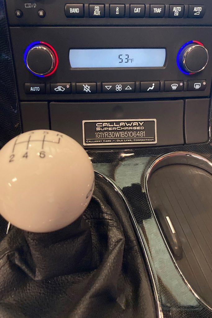 2011 Callaway Corvette SC606 - dash plaque